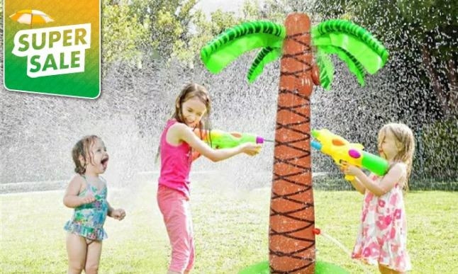 מתקן עץ מים לילדים לקיץ